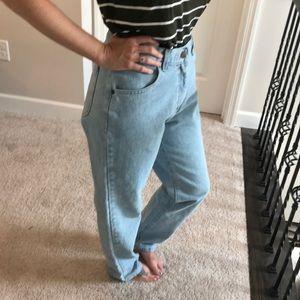 Vintage lee light wash mom jeans 100% cotton 10M